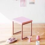 [라쏨] 마이퍼펙트데이 조명화장대 핑크 스툴 의자