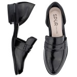 SPUR[스퍼] 로퍼 LS9065 Open penny loafer  블랙