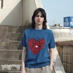 [Hello Kitty] Heart S/S Knit(Blue)_(528995)