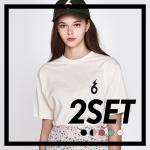 [1+1] 메이비 투데이 624 로고 티셔츠 (5컬러 모음)