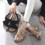 kami et muse 4cm tall up tessle velcro sandals_KM17s150