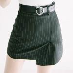 Heart Pin-stripe Skirt Pants (4colors)