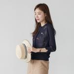 [마이블린] 썸머 꽃자수 라운드넥 가디건_(490972)