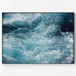 메탈 모던 바다 풍경 인테리어 포스터 액자 파도 B
