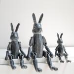 [T-LAB] 원더랜드 목각 토끼 인형-블랙