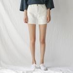 white cutting shorts