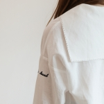 [예약발송]LINEN SAILOR BLOUSE-WHITE