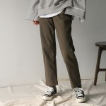 cotton banding straight pants
