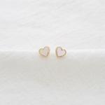 미니 하트 쉘 귀걸이