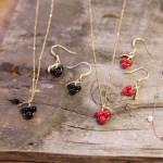 나뭇잎장식 열매 귀걸이 목걸이세트