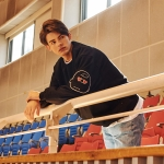 [SS18 Peanuts] Elbow Patch Sweatshirts(Black)_(599981)