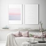 블루밍 핑크 풍경 인테리어 액자 포스터 3종