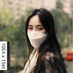 런드리마스크 KF80 식약처인증 황사 미세먼지 마스크 SET(10매)