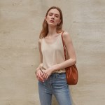 CLEAN V-NECK SLEEVELESS_BEIGE