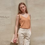 V-NECK SLEEVELESS TOP_ORANGE