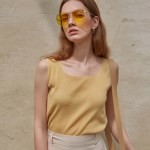 SQUARE SLEEVELESS TOP_YELLOW