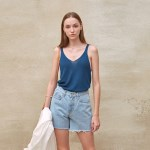 LOOSE-FIT KNIT SLEEVELESS_NAVY