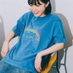 [아이린착용] RONRON TRIPLE BEARS T-SHIRT PIGMENT BLUE