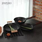 지스페로(jispero)너도밤나무 손잡이 무쇠주물 파티 그릴 (28cm)
