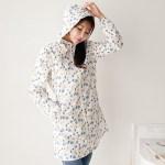 여름 얇은 성인 여성 꽃무늬 비옷 우비 우의 패션 레인코트