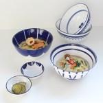 아라 수피아 4인 도자기 우동기 + 종지세트 6p (라면그릇)