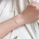 [925 silver] 노랑 데이지 꽃 실버 은 팔찌 & 발찌
