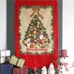 레트로 크리스마스 트리 패브릭 포스터 2type_(2088100)