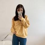 [모어댄베러]크리지 기모 프린팅 라운드 맨투맨