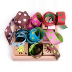 Reversible Dot Grosgrain Ribbon_25mm (grosgrain jacquard)