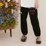 [9/30예약]WHITE ROSE SWEAT PANTS BLAC