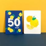 팬케이크마운틴 양면 아기 성장카드 32장 (뒷면 초점카드 32장)