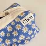 클램 라운드 파우치 _ 에그플라워 (Clam round pouch _ Egg flower)