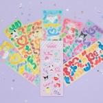 [Sanrio] 산리오캐릭터즈 컨페티 스티커팩 (7종set)