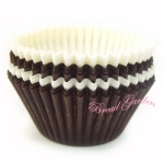 베이킹컵(화이트&브라운/55mm)- for muffins!(no.3153)