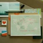 Paperways Desk Notepad -World Map