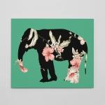 flowers on elephant/코끼리 위에 꽃