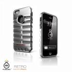 아이폰 5/5S 레트로 케이스-실버(거치대/보호필름/클리너포함)