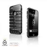 아이폰 5/5S 레트로 케이스-블랙(거치대/보호필름/클리너포함)