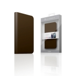 D5 Calf Skin Leather Case for iPhone 4/4S D.Brown