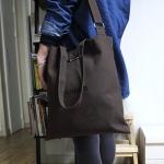 허니브레인-PLANNER 다크 브라운 canvas simple bag