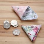 꼬깔콘-동전지갑만들기-핑크도트,앤틱레드