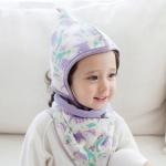 [한스펌킨][SET] [기획특가] 아기모자+극세사 양면넥워머SET
