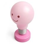 스마일 전구 램프 무드등 - 핑크