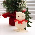 눈사람과 나무 데스크 오너먼트