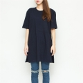 zipper cotton dress