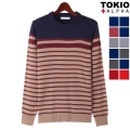 Various Stripe Round Knit