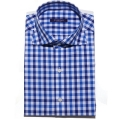 TAILORED S/S CHECK BLUE SHIRTS_ premium ��ư100