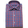 TAILORED S/S CHECK RED SHIRTS_ premium ��ư100