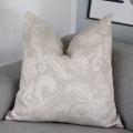 Shabby embroidery cushion size 60x60 beige color