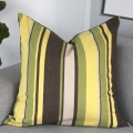 Thick stripe green cushion size 60x60